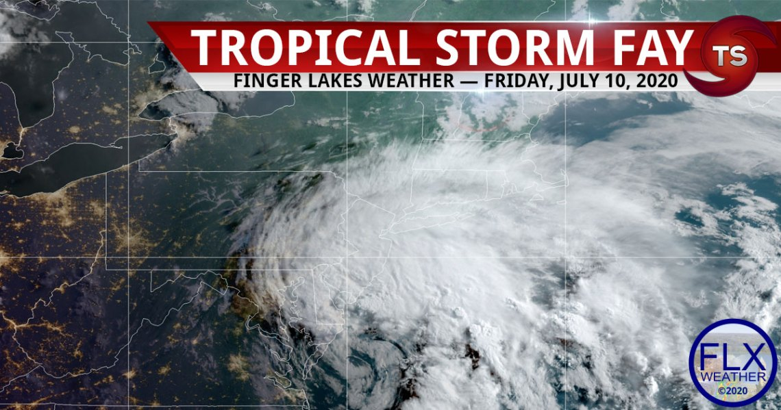 finger lakes weather forecast tropical storm fay friday july 10 2020