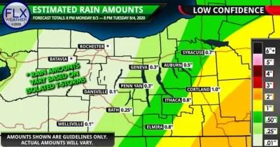 finger lakes weather forecast august 4 2020 isaias predecessor rain event forecast