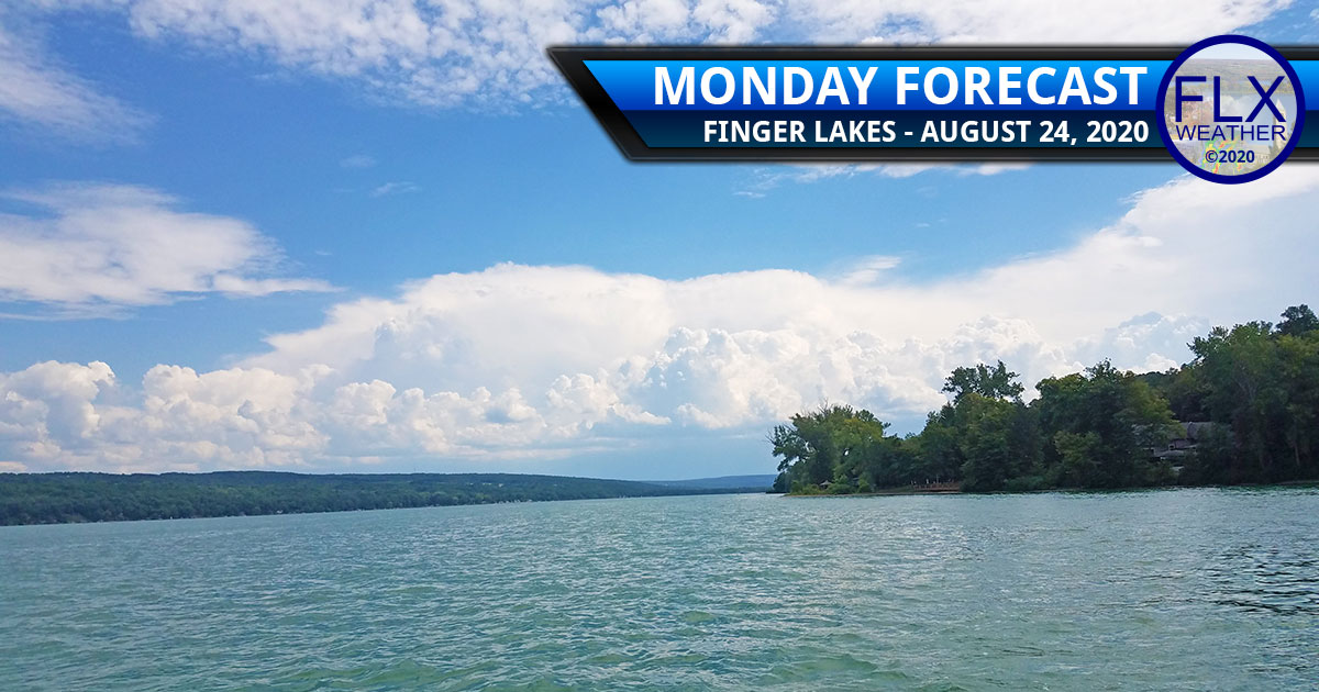 finger lakes weather forecast monday august 24 2020 sun clouds thunderstorms hot
