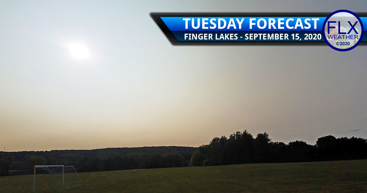 finger lakes weather forecast tuesday september 15 2020 cool high pressure wildfire smoke