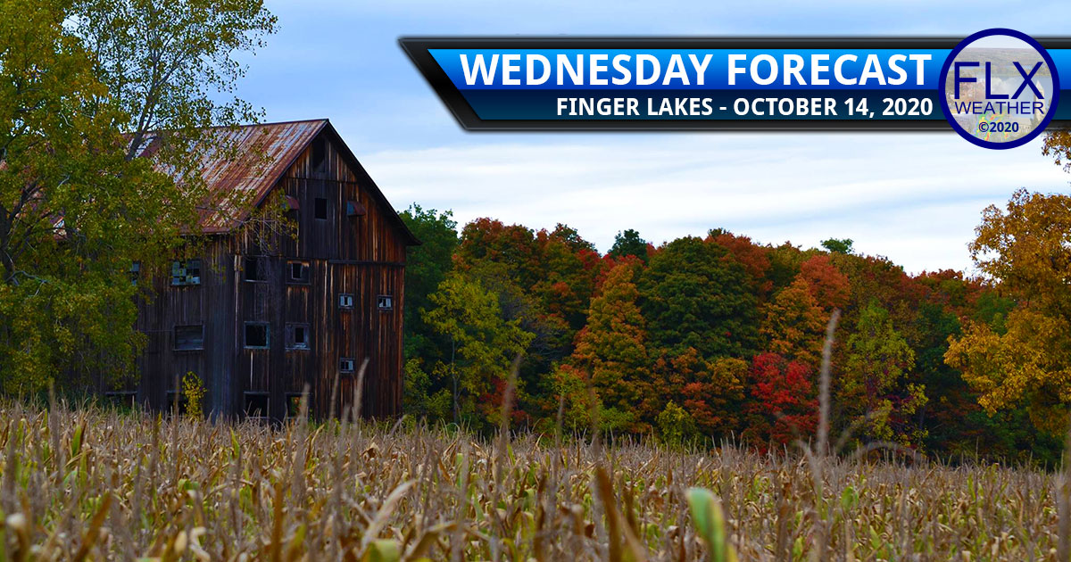 finger lakes weather forecast wednesday october 14 2020 sun clouds warming up windy cold front thursday