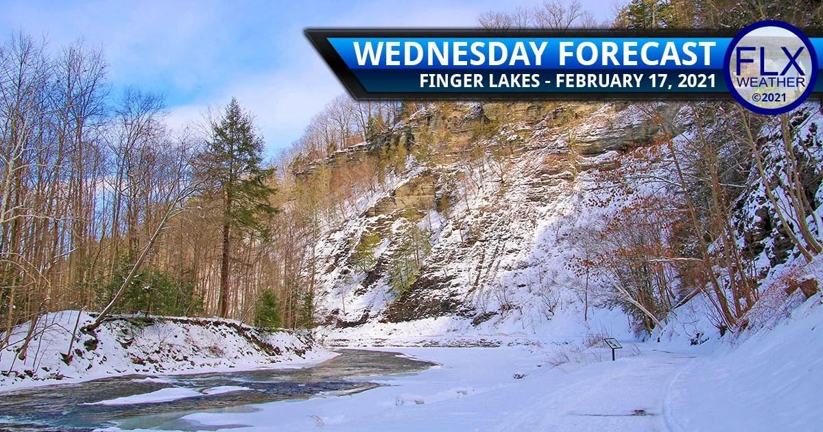 finger lakes weather forecast wednesday february 17 2021 sunny high pressure snow thursday