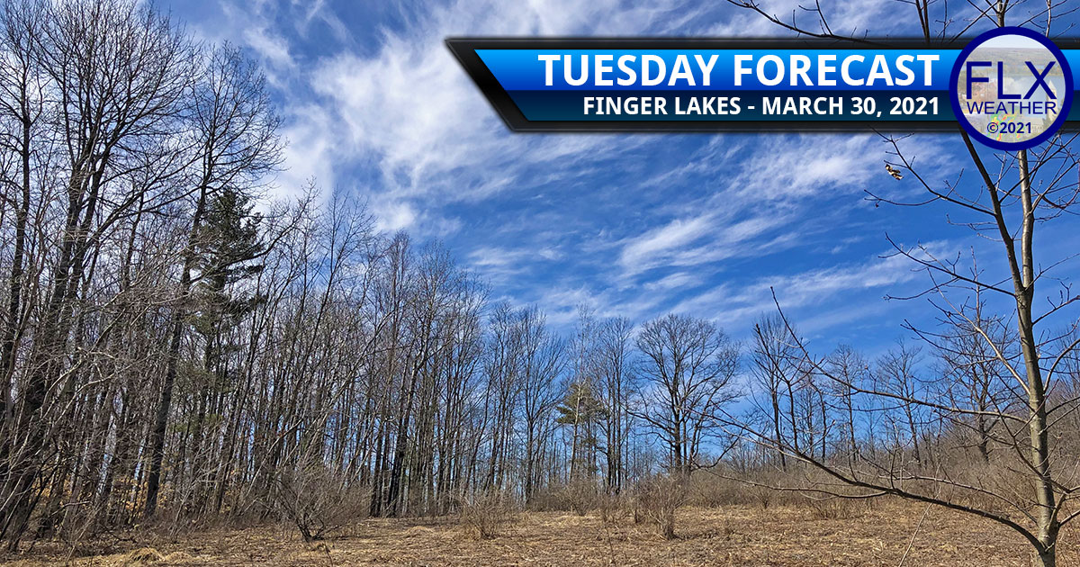 finger lakes weather forecast tuesday march 30 2021 sunny mild rain cold front wednesday snow thursday