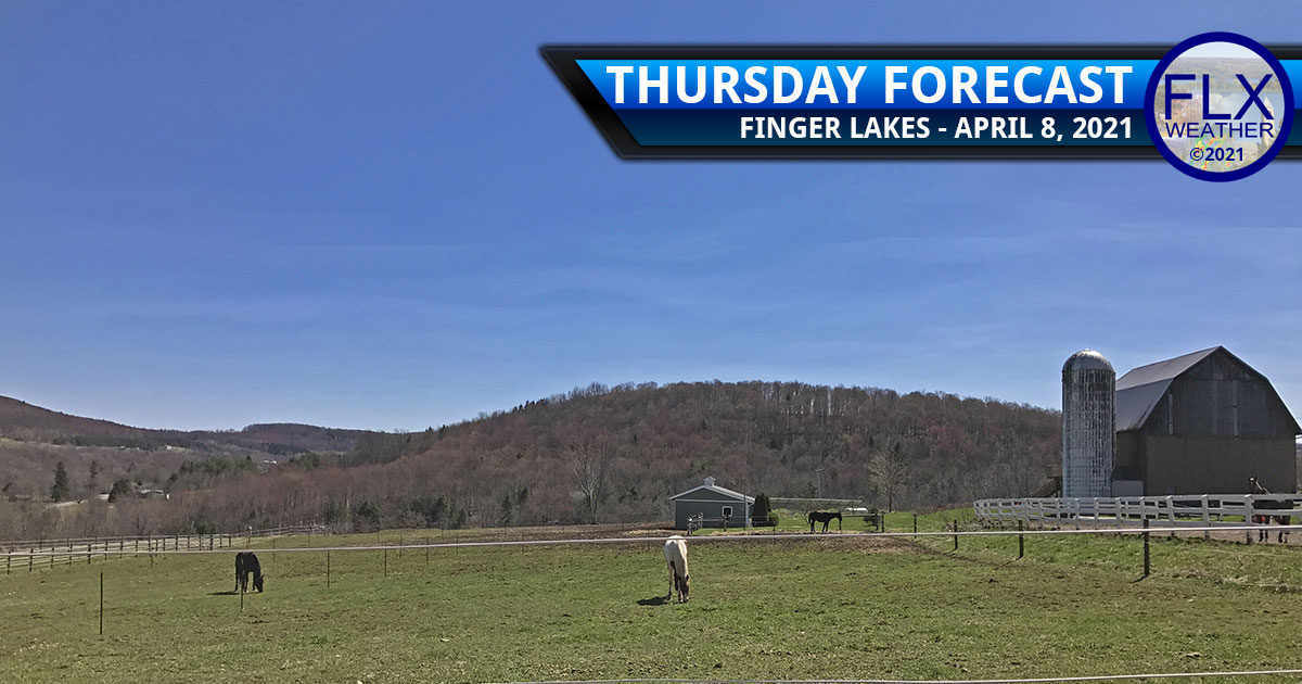 finger lakes weather forecast thursday april 8 2021 sunny warm weekend rain