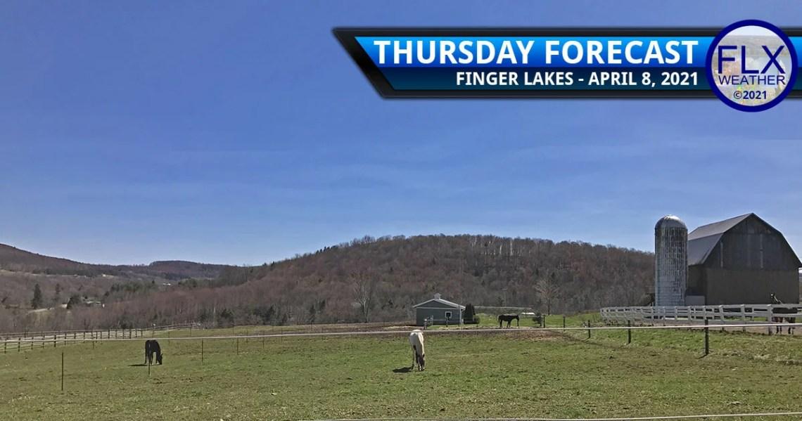 finger lakes weather forecast thursday april 8 2021 sunny warm weekend rain