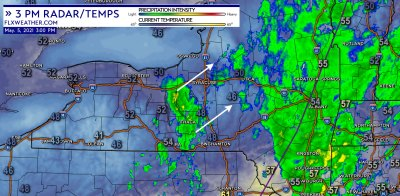 finger lakes weather wednesday may 5 2021 10 am radar temperature 3pm update
