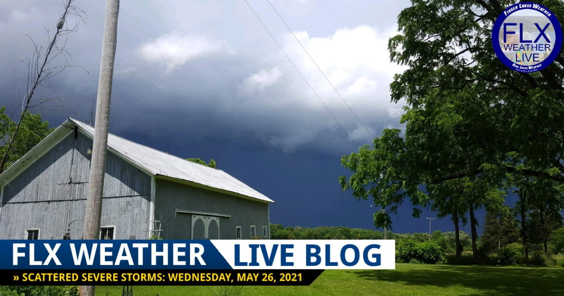 finger lakes weather forecast live thunderstorm updates wednesday may 26 2021
