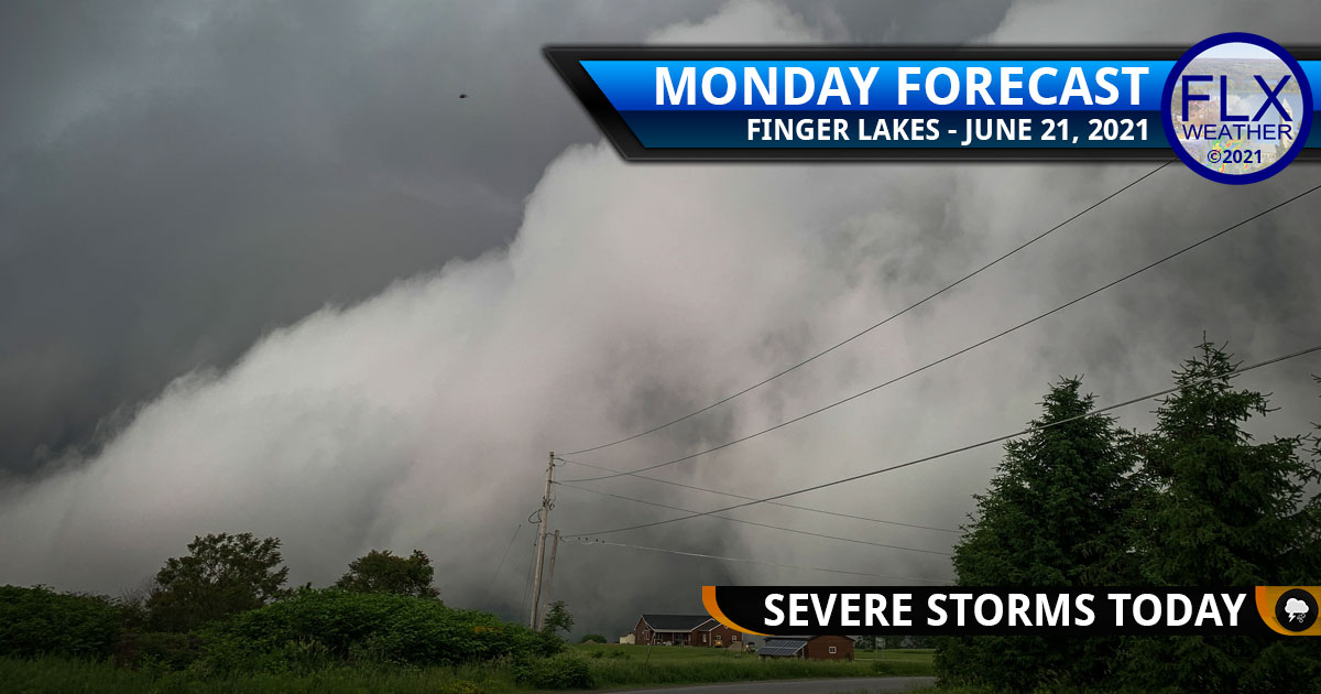 finger lakes weather forecast monday june 21 2021 severe thunderstorms tornado watch