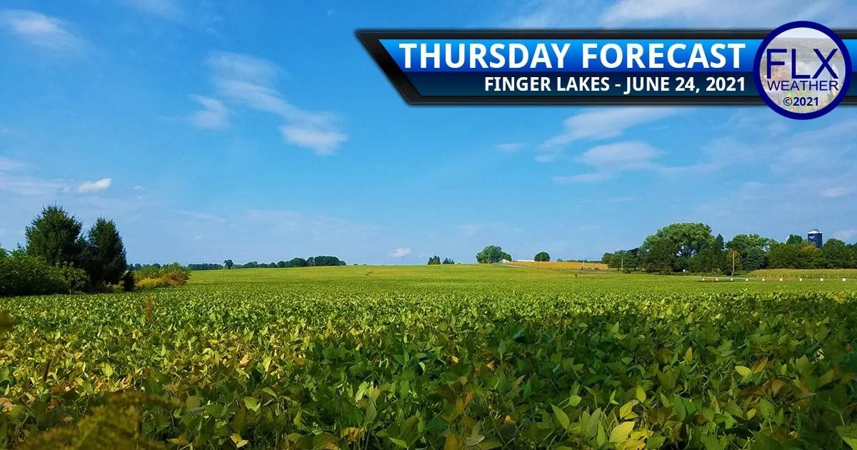 finger lakes weather forecast thursday june 24 2021 sunny breezy