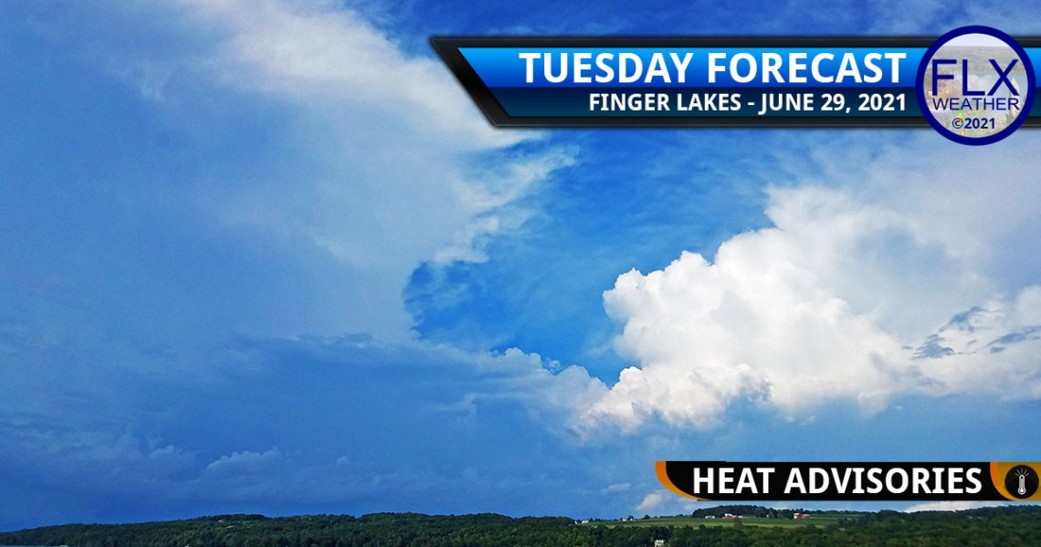 finger lakes weather forecast tuesday june 29 2021 heat advisory hot humid thunderstorms