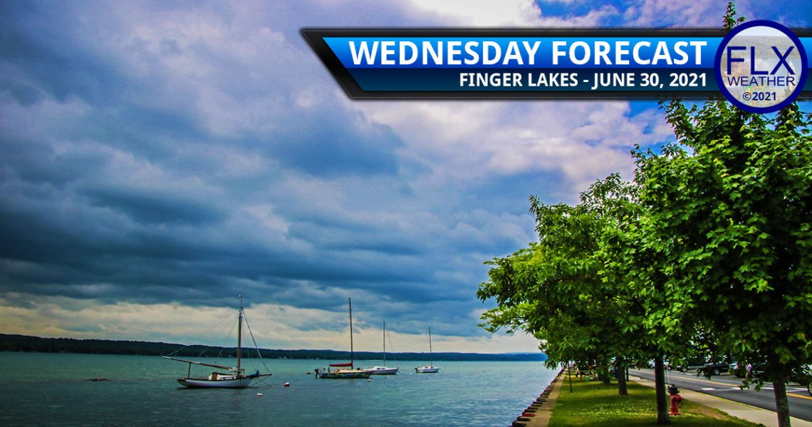 finger lakes weather forecast  wednesday june 30 2021 showers thunderstorms cold front