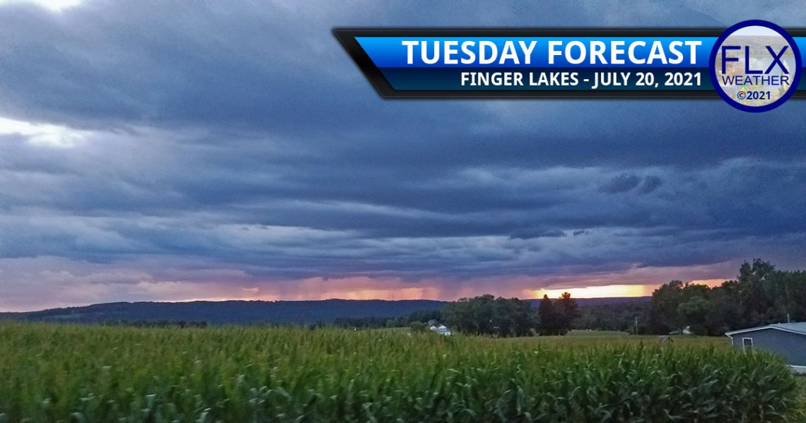 finger lakes weather forecast tuesday july 20 2021 showers thunderstorms wildfire smoke