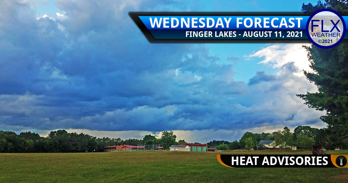 finger lakes weather forecast wednesday august 11 2021 hot heat advisories thunderstorms