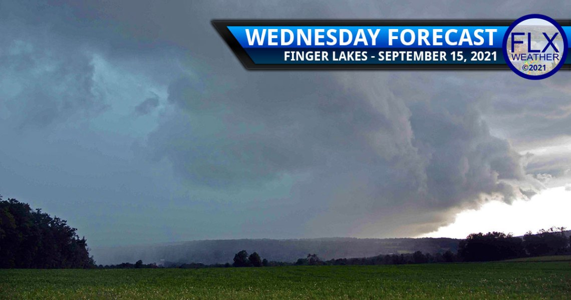finger lakes weather forecast wednesday september 15 2021 cold front rain thunderstorms