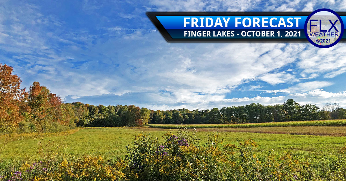finger lakes weather forecast friday october 1 2021 sun clouds rain weekend warm