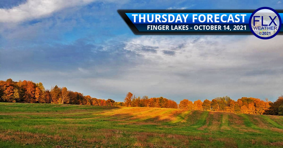 finger lakes weather forecast thursday october 14 2021 sun clouds fog showers cold front saturday