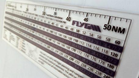Fly GA ta-1 fuel calculation ruler