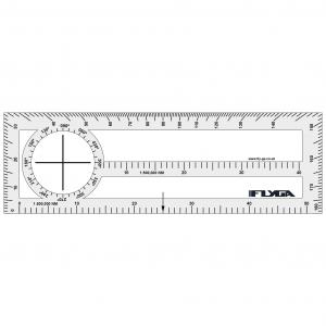 Double Sided Plotter (Nautical Mile Plotter, Navigation Ruler)