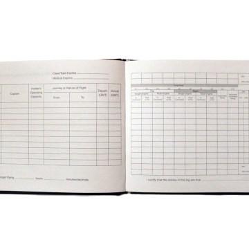 Pilot LogBook - CAA & EASA Compliant - For PPL(A), LAPL & Qualified Pilots - Faux Leather Hardback