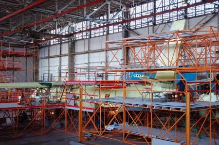 El montaje estructural del primer An-132D fue acabado a finales de marzo de 2016.