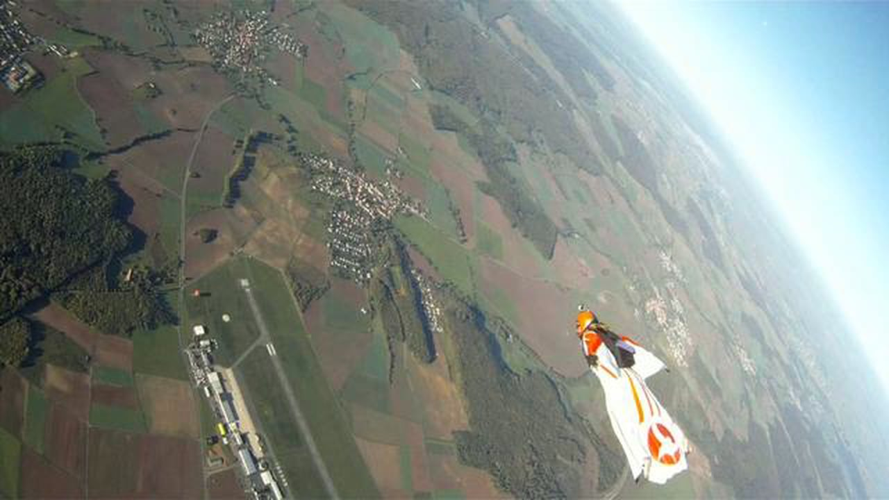 raw cutted flights over calden,germany