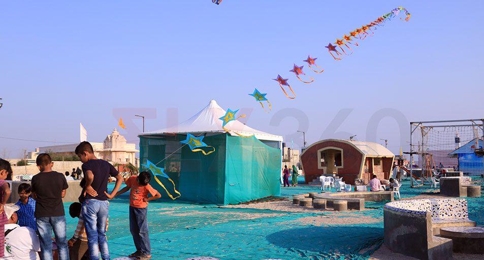 Beach Kite Festival at Dwarka