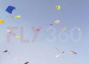 Kite flying day 1 - FLY360 - kite festival