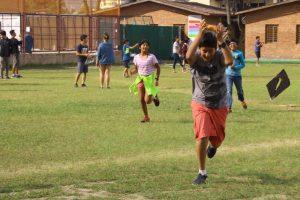 Kids flying kite - dashain festival of nepal