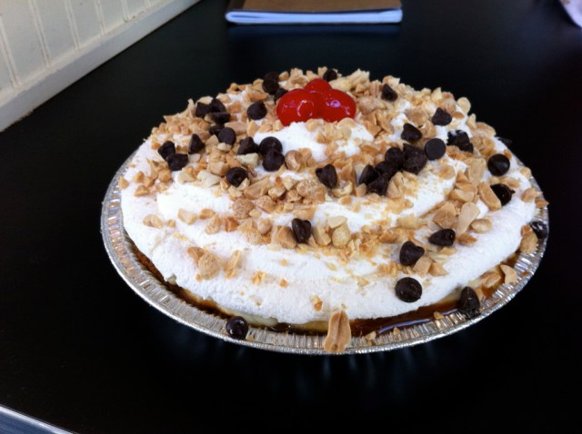 High 5's Peanut Butter and Chocolate Pie