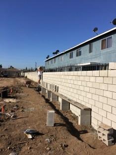 Finishing East wall