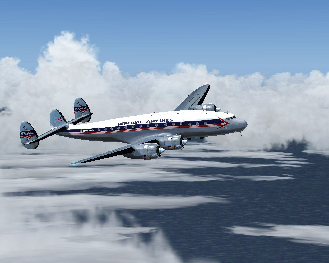 Imperial Airlines L 049 N67953 For Fs2004