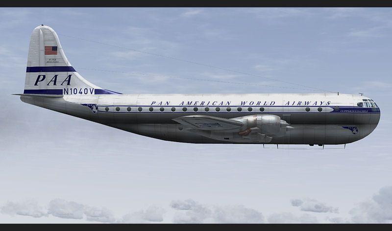 Pan Am Boeing 377 Stratocruiser Clipper Invincible For Fsx