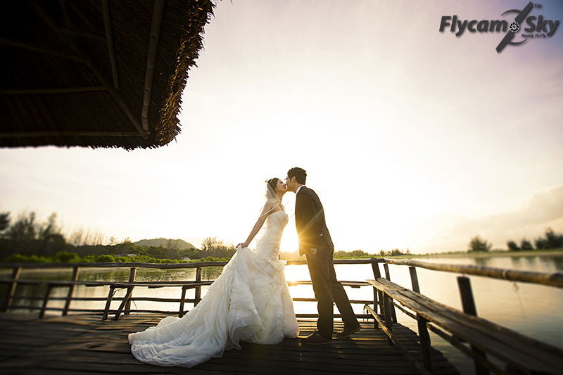 flycam chup anh cuoi an tuong