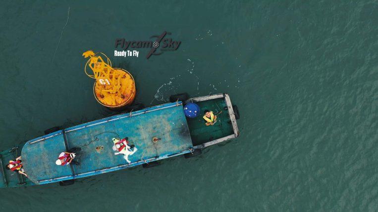 Flycam Chụp ảnh tàu dỡ hàng