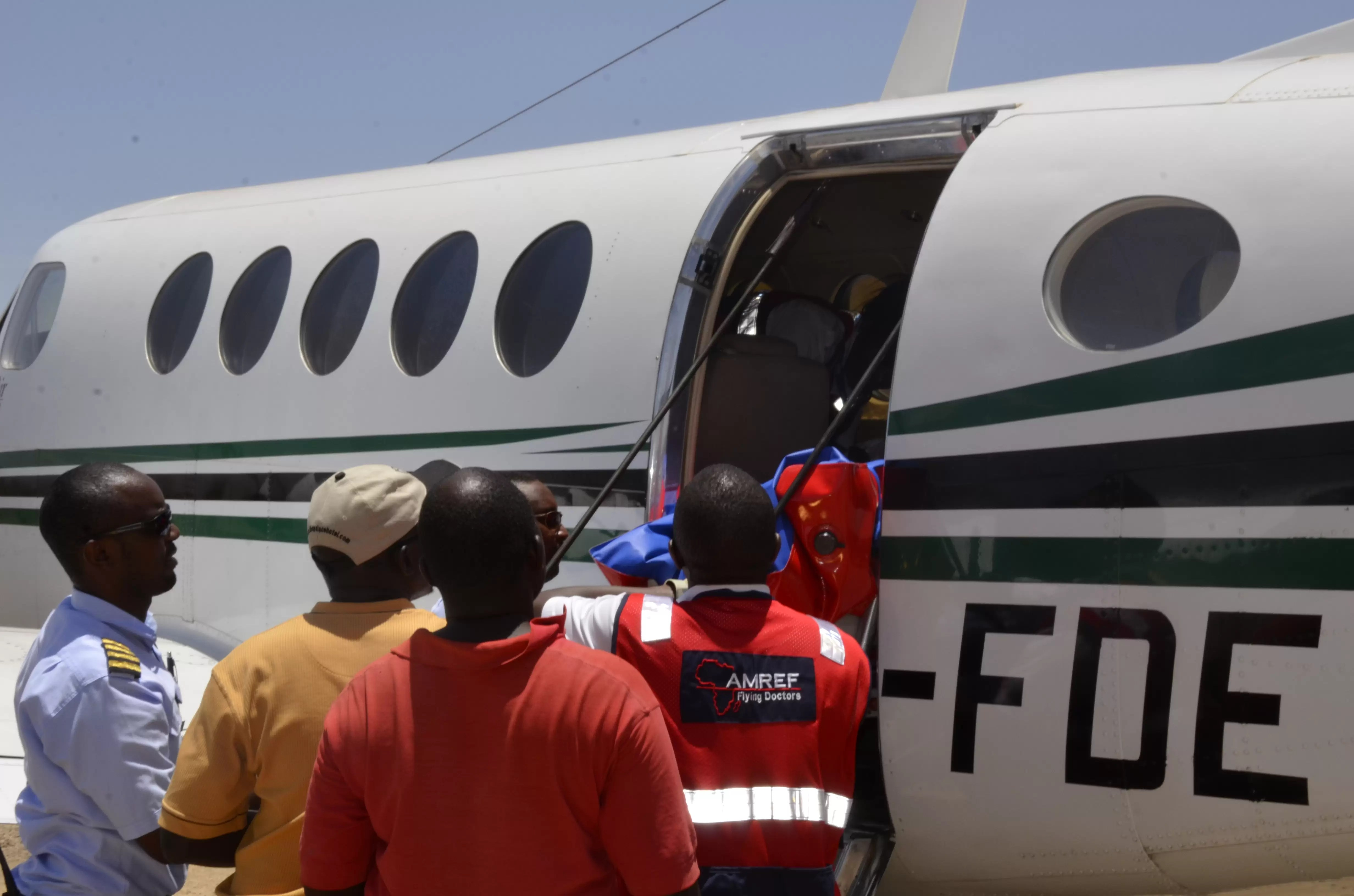 AMREF Flying Doctors Evacuates a woman with post natal complications