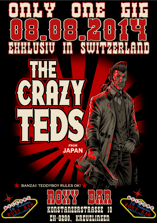 The Crazy Teds (LIVE) Fr. 8.8.14  Roxy Bar, Kreuzlingen Rock´n Roll !!!