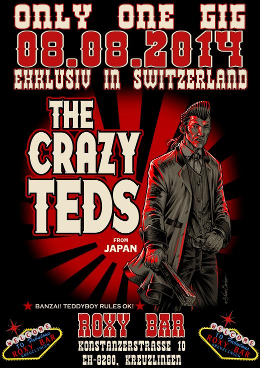 The Crazy Teds (LIVE) Fr. 8.8.14  Roxy Bar, Kreuzlingen Rock´n Roll !!!