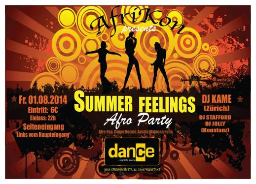 Summer Feelings Fr.1.1.8 Dance, Konstanz Afro Party