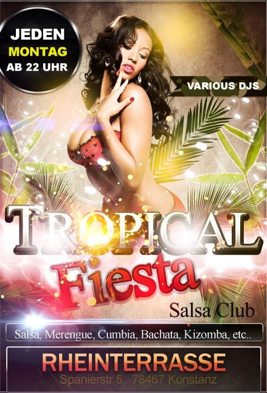 Fiesta Tropical Jeden Montag Salsa, Merengue, Cumbia, Bachata, Kizomba, etc.  Rheinterrasse, Kon ...