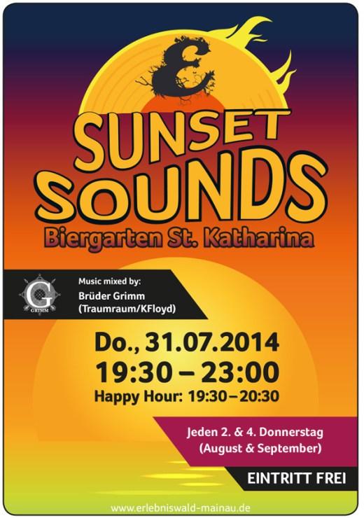 """""""Sunset Sounds"""" – Die After Work Party im Grünen. Lasst Euch von den elektroni ..."""