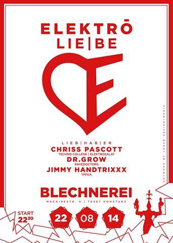 Elektro LIE|BE – Fr 22.08.2014 – Blechnerei – Konstanz