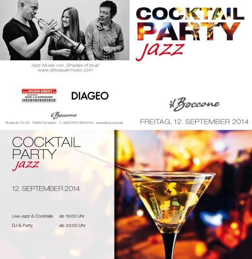 """12. 09.2014 Cocktailparty """"Jazz"""" im Il Boccone"""