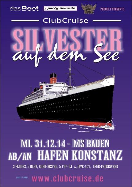 Silvester auf dem See – 31.12.14 – MS Baden – ab/an Konstanz