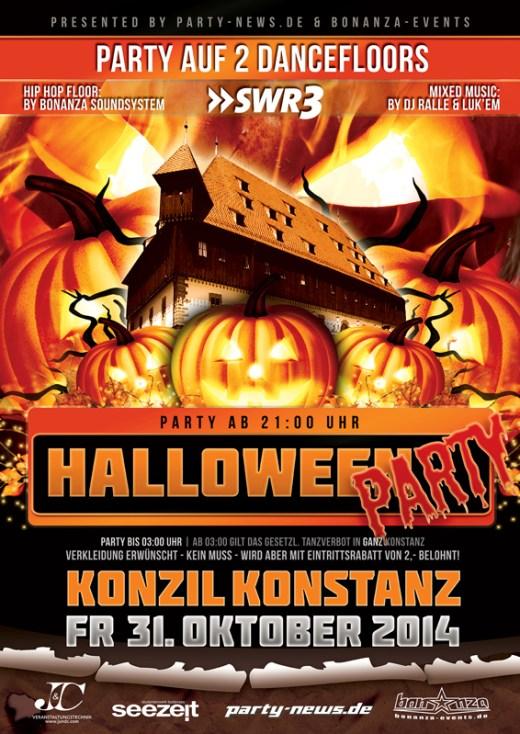 Halloween im Konzil – Fr.31.10.14 – Konstanz