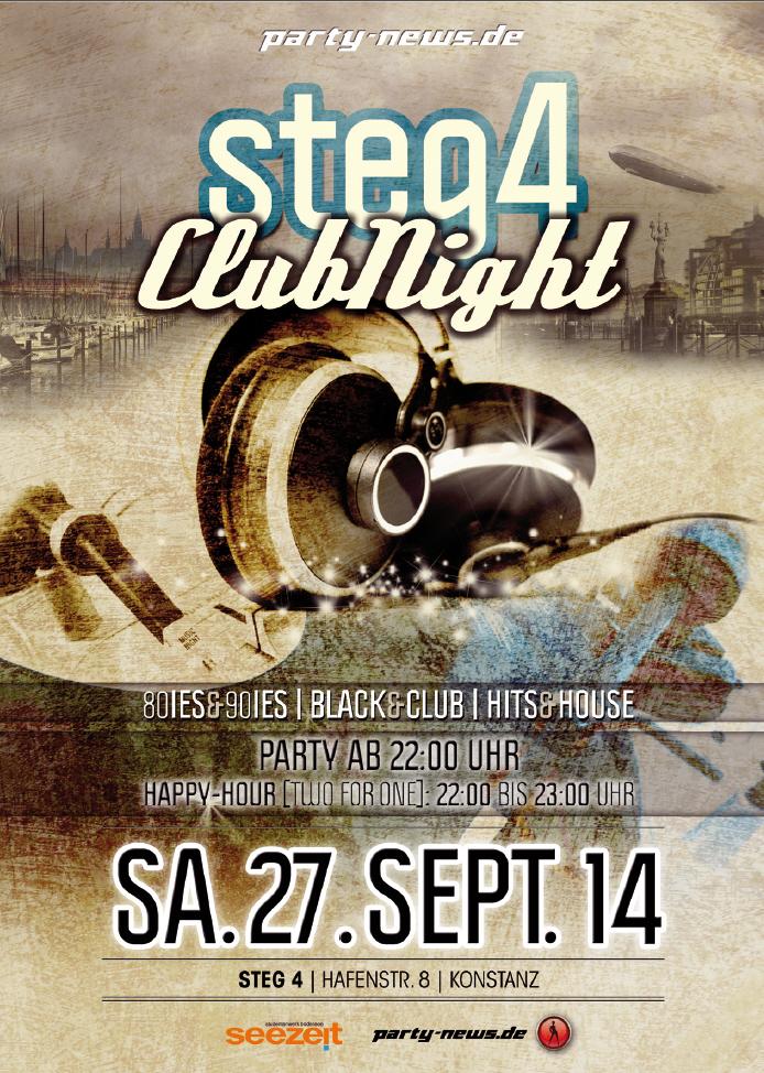 Steg4 Club Nigfht – Sa. 27.9.14 – Steg4 – Konstanz