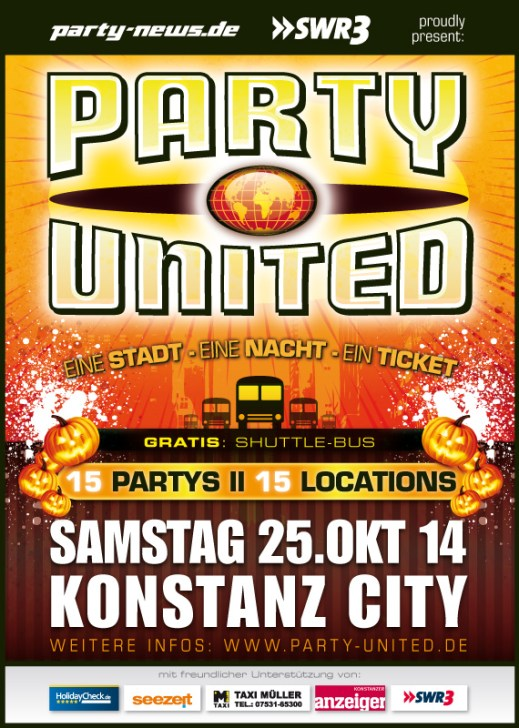 Party-United – Sa. 25.10.14 – Konstanz