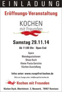 Kochen mit Freunden – Sa. 29.11.14 – Ab 11 Uhr – Neuwerk, 78467 Konstanz
