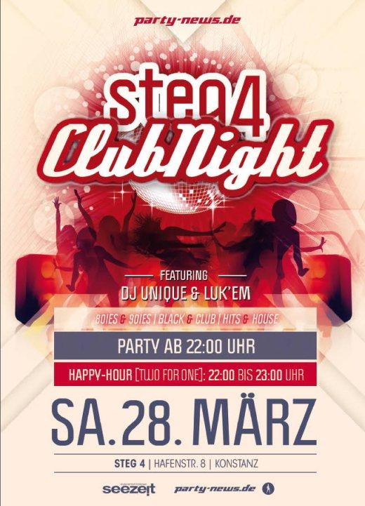 Steg4 Club Night – Sa.28.3.15 – Steg4 – Konstanz