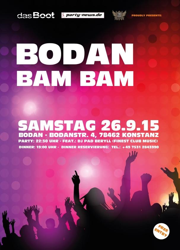 Bodan Bam Bam – Sa.26.9.15 – Bodan – Konstanz