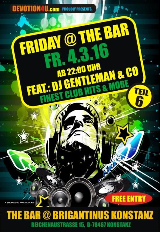Friday @ the Bar, am Fr. 4.3.16, Brigantinus, Konstanz